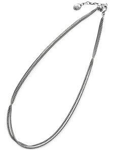 HARIM(ハリム)【DOUBLE HERRINGBONE CHAINS NECK / BLACELET / ダブルへリンボーンチェーン ネックレス ブレスレット[HRC012] 】[正規品](スターリングシルバー/3連/フリーサイズ/調節可能/925/銀/ペア/ギフ