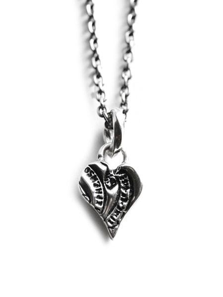 HARIM(ハリム)Stamp Heart Pendant スタンプ ハート ペンダント / [HRP002SV] ネックレス チャーム チョーカー シルバー チェーン 本 蔵書票 銀 メンズ レディース【送料無料】