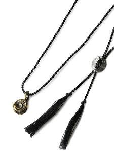 HARIM(ハリム)【ancient moon Brass and silk エインシェント ムーン ブラスアンドシルク [HRP011BRSC] 】[正規品](ネックレス/ペンダント/アンティークゴールド/調節可能/スターリングシルバー/真鍮/