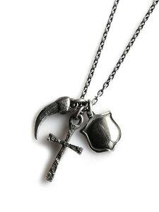 【※ポイント5倍※】HARIM(ハリム)amulet set C Necklace / [HRP054 S] ネックレス ペンダント チャーム チョーカー シルバー チェーン クロス クロー クロウ タロン シールド シルバー 爪 十字架 盾