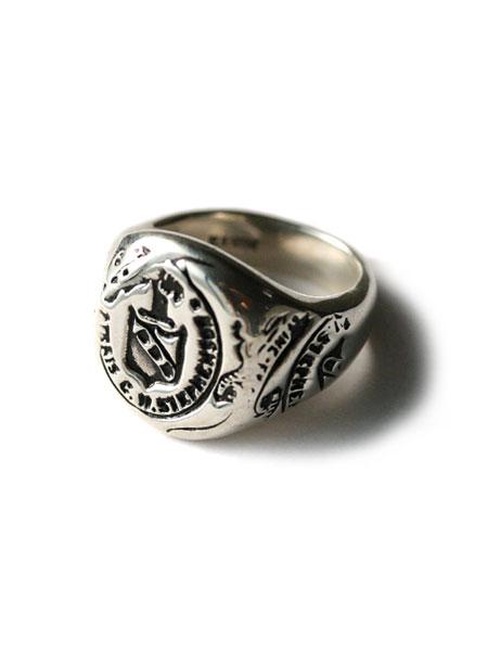 HARIM(ハリム)Emblem College Ring エンブレム カレッジ リング / [HRR001SV] 指輪 シルバー ホース 馬 蔵書票 メンズ レディース【送料無料】