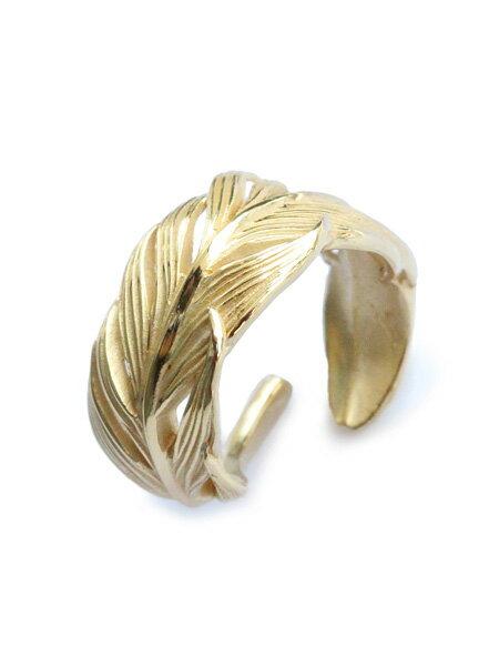 HARIM(ハリム)Small Owl Feather ring K18coating / [HRR015G_Small] フェザー ピンキーリング ゴールド フクロウ 指輪 金 羽根 翼 梟 メンズ レディース【送料無料】