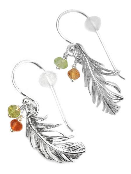 HARIM(ハリム)Feather Ear Pierce Set [Soft & Wet] (Silver) / [HRA001 SV W] フェザー ピアス イヤリング シルバー メンズ レディース