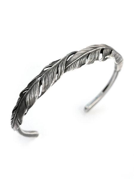 HARIM(ハリム)Double Feather Bangle (silver) / [HRA034 SV] バングル ブレスレット ブレス カフ フェザー シルバー メンズ レディース【送料無料】