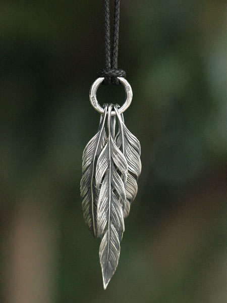 HARIM(ハリム)Owl feather set 1 (Black Cord) / [HRP036S_Black Cord] ネックレス ペンダント シルバー メンズ レディース【送料無料】