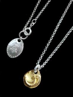 HARIM (Halim) Ancient Moon Pendant (18k Gold) / month, necklace