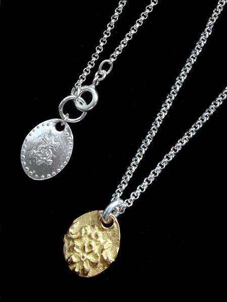 HARIM(ハリム)Ancient Flower Pendant (18k Gold) / [HRP091G_K18] フラワー ネックレス ペンダント ゴールド シルバー メンズ レディース【送料無料】