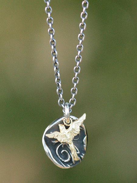 HARIM(ハリム)day breaker pendant 【night and bird】 / [HRP098S] ネックレス ペンダント シルバー 鳥 ゴールド メンズ レディース【送料無料】