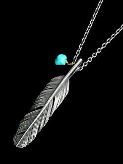 HARIM (Halim) HARIM FEATHER CENTER S (OX) / [HRP120OX] feather necklace pendant silver men gap Dis