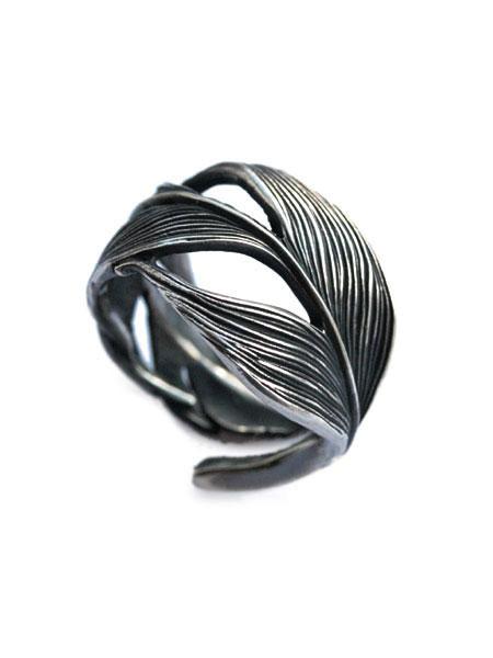 HARIM(ハリム)Owl Feather ring / [HRR015] フェザー リング 指輪 シルバー メンズ レディース【送料無料】