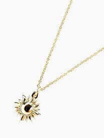 IDEALISM SOUND(イデアリズムサウンド)【K10 YELLOW GOLD Sun Necklace [NO.11110]】[正規品](ネックレス/ペンダント/イエローゴールド/ルビー/調節可能/サン/太陽/オーバルチェーン/ジュエリー/金/宝石/プレゼント/ユニセックス/メンズ/レディース)【送料無料】