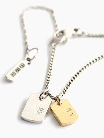 IDEALISM SOUND(イデアリズムサウンド)【K10 YELLOW GOLD × STERLING SILVER プレートコンビネックレス [NO.14071]】[正規品](ペンダント/イエローゴールド/調節可能/スターリングシルバー/金/銀/925/ギフト/プレゼント/ユニセックス/メンズ/レディース)【送料無料】