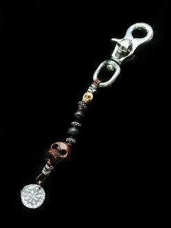 Celia de Flers (sherry デ フレール) Pirates key chain (Skull Clip) / key ring scull silver Wood skeleton men gap Dis