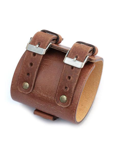 gbb custom leather(gbb カスタム レザー)JD Platoon Cuff プラトーン カフ / レザー ブレス バックル ベルト 革 ヴィンテージブラウン 茶色 メンズ レディース【送料無料】