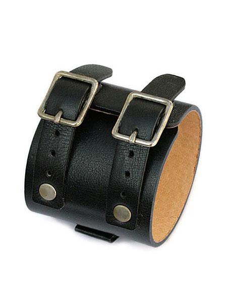 gbb custom leather(gbb カスタム レザー)JD Cuff Bracelet JD カフ ブレスレット (ブラック) / レザー 革 黒 ブレス バックル ベルト メンズ レディース【送料無料】