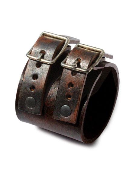 gbb custom leather(gbb カスタム レザー)1965 Cuff / レザー ブレス カフ ブレスレット バックル ベルト 革 ダークブラウン 茶色 メンズ レディース【送料無料】
