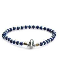 SunKu(サンク・39)Lapis × Silver 1 Roll Bracelet ラピス × シルバー 1連 ブレスレット / [SK-155] ブラス ゴールド 青 藍 銀 真鍮 天然石 宝石 メンズ レディース