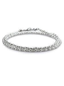 【※ポイント5倍※】SunKu(サンク・39)Small Silver Beads Long Necklace / [SK-111] スモールシルバービーズロングネックレス 4連ラップブレスレット 3連アンクレット ペンダント 銀 メンズ レディース