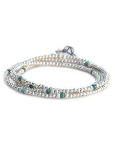 【※ポイント5倍※】SunKu(サンク・39)Small Beads Long Necklace (Turquoise) / [SK-112] スモールビーズロングネックレス ターコイズ ブレスレット アンクレット ペンダント シルバー グリーン 緑 銀 天