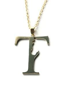 【※ポイント5倍※】Tiny tail(タイニーテイル)T×ウマ ネックレス / 馬 ホース アルファベット ペンダント ゴールド ブラス アニマル 金 真鍮 動物 メンズ レディース