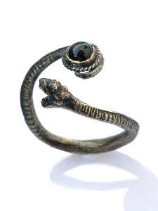 【※ポイント5倍※】Garden of Eden(ガーデン オブ エデン)Snake Ring (Onyx) [EDN_R04] スネークリング (オニキス) / ヘビ リング ブラス アンティークゴールド アステリズム アニマル ストーン 爬虫類 真