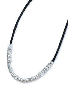 【※ポイント5倍※】Garden of Eden(ガーデン オブ エデン)Silver Beads Necklace [ED-15FL-CH04] シルバービーズネックレス / チョーカー ペンダント レザーコード ディアスキン トライアングルチャーム 銀
