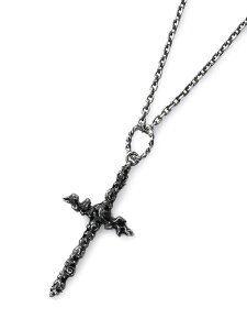 Garden of Eden(ガーデン オブ エデン)CROSS NECKLACE (BLACK) [20-D131G429.blk] クロスネックレス (ブラック) / ペンダント シルバー ダイエットブッチャースリムスキン Wネーム コラボ オーバルチェーン 樹