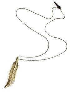 【※ポイント5倍※】M.Cohen(エム・コーエン)BRASS FEATHER NECKLACE [N-10864] ブラスフェザーネックレス / ロングチェーンペンダント 羽根 翼 シルバー 喜平 レザー ブランドロゴチャーム 銀 金 真鍮