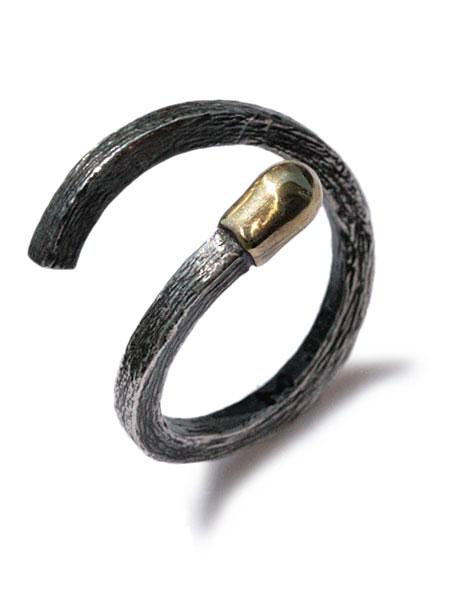 M.Cohen(エム・コーエン)Match Design Ring(Oxidized Silver) [R-101104-MIX-OXI] マッチデザインリング (オキシダイシルバー) / 指輪 アンティークゴールド ブラス ヴィンテージ フリーサイズ ブラック 銀 真鍮 金 黒 925 ペア ユニセックス メンズ レディース【送料無料】