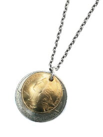 【※ポイント5倍※】BELIEVEINMIRACLE(ビリーブインミラクル)【W COIN NECKLACE ダブルコインネックレス】[正規品](ペンダント/シルバー/ゴールド/硬貨/金貨/銀貨/ペア/プレゼント/ユニセックス/メンズ/レディース)