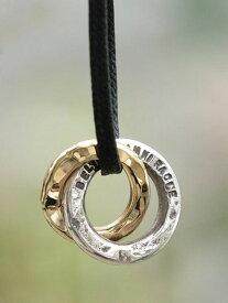 BELIEVEINMIRACLE(ビリーブインミラクル)【W RING Necklace shoerace ダブルリングネックレス シューレース】[正規品](ペンダント/2連チャーム/スターリングシルバー/ブラス/ゴールド/コード/真鍮/銀/金/プレゼント/ユニセックス/メンズ/レディース)【送料無料】