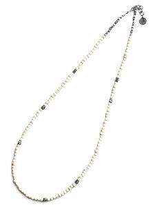BELIEVEINMIRACLE(ビリーブインミラクル)【BUFFALO WHITE BONE NC (thin) バッファローホワイトボーンネックレス [467]】[正規品](4連ラップブレスレット/3連アンクレット/3WAY/ロング/シンプル/インディ