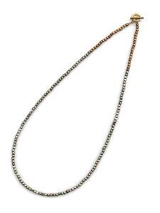 BELIEVEINMIRACLE(ビリーブインミラクル)【METALBZ NC & BRACE (シルバー) メタルビーズネックレス & ブレスレット】[正規品](アンクレット/3WAY/ラップ/アンティークゴールド/ブラス/真鍮/金/銀/シン
