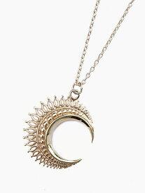 IDEALISM SOUND(イデアリズムサウンド)【Large Moon Necklace (Gold)[No.12068] ラージムーンネックレス (ゴールド)】[正規品](ペンダント/10Kイエローゴールド/ルビー/宝石/天然石/調節可能/月/花/金/ギフト/プレゼント/ユニセックス/メンズ/レディース)【送料無料】