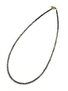 BELIEVEINMIRACLE(ビリーブインミラクル)【METALBZ NC & BRACE (ガンメタル) メタルビーズネックレス&ブレスレット】[正規品](3連ラップ/2連アンクレット/3WAY/腕輪/ブラック/ブラス/真鍮/Tバー/金/