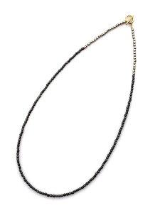 BELIEVEINMIRACLE(ビリーブインミラクル)【METALBZ NC & BRACE (ブラック) メタルビーズネックレス&ブレスレット】[正規品](3連ラップ/2連アンクレット/3WAY/腕輪/シルバー/ブラス/真鍮/Tバー/黒/銀/