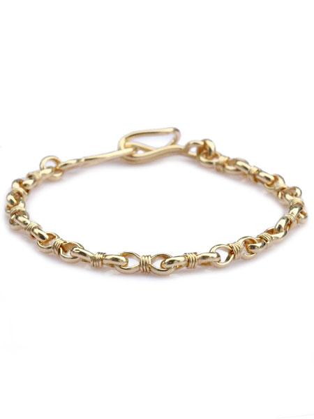 ACE by morizane(エースバイモリザネ)【wrapped link chain bracelet 18k gold plated ラップドリンクチェーンブレスレット ゴールドプレート】[正規品](腕輪/細身/シルバー/銀/金/ペア/ギフト/プレゼント/ユニセックス/メンズ/レディース)【送料無料】