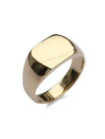 【※ポイント5倍※】ACE by morizane(エースバイモリザネ)【mans ring 18k gold plated マンズリング ゴールドプレート】[正規品](指輪/スクエア/シンプル/上品/金/印台/シルバー/ペア/ギフト/プレゼント/ユニセックス/メンズ/レディース)【送料無料】