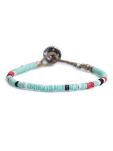 amp japan(アンプ ジャパン)【African Disk Beads Bracelet ライトブルー [14AHK-425LBL] / アフリカン ディスク ビーズ ブレスレット】[正規品](腕輪/コンチョ/トリップスマイル/スターリングシルバー/