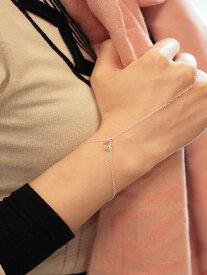 Chan Luu(チャンルー)【Silver Crystal Hand Chain [BS-4397] / シルバー クリスタル ハンドチェーン】[正規品](腕輪/指輪/スワロフスキー/スターリングシルバー/ラグジュアリー/銀/宝石/925/プレゼント/ギフト/レディース)【送料無料】