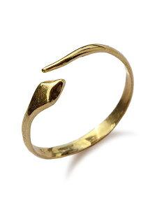【※ポイント5倍※】VERAMEAT(ヴェラミート)【Simple Serpent Ring / シンプル サーペント リング】[正規品](指輪/蛇/ヘビ/ピンキー/ファランジ/ブラスゴールド/動物/アニマル/爬虫類/細身/真鍮/金