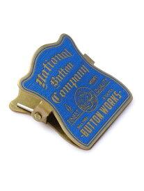 【※ポイント5倍※】Button Works(ボタンワークス)【BRASS PAPER MINI CLIP (BLUE) / ブラス ペーパー ミニクリップ (ブルー)】[正規品](メモ/文房具/マネークリップ/青/金/真鍮/プレゼント/ギフト/ユニセックス/メンズ/レディース)