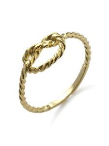 【※ポイント5倍※】KIEL JAMES PATRICK(キール・ジェイムス・パトリック)【SAILOR FOREVER KNOT - GOLD / セイラー フォーエバー ノット (ゴールド)】[正規品](リング/指輪/ファランジ/ロープ/船乗り/