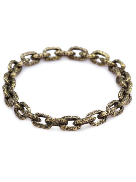 【※ポイント5倍※】M.Cohen(エム・コーエン)【Brass Carved Link Bracelet [B-101103-BRS] / ブラス カーブド リンク ブレスレット】[正規品](プレゼント/ギフト/ユニセックス)【送料無料】