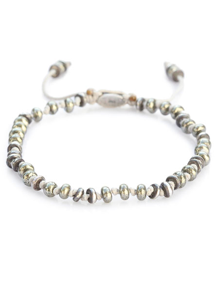 M.Cohen(エム・コーエン)【TEMPLAR JOINTED MINI GEMSTONE BRACELET WITH STERLING ACCENTS [B-103553-PYRITE] / テンプル ジョインテッド ミニ ジェムストーン ウィズ スターリング アクセント】[正規品](パイライト/フリーサイズ/腕輪/プレゼント)【送料無料】