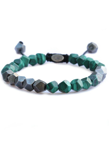 M.Cohen(エム・コーエン)【deca 10 with silver beads [B-103702-SLV-MML] デカテンウィズシルバービーズ】[正規品](ブレスレット/フリーサイズ/マットマラカイト/グリーン/天然石/孔雀石/緑/銀/925/ペア/プレゼント/ユニセックス/メンズ/レディース)【送料無料】