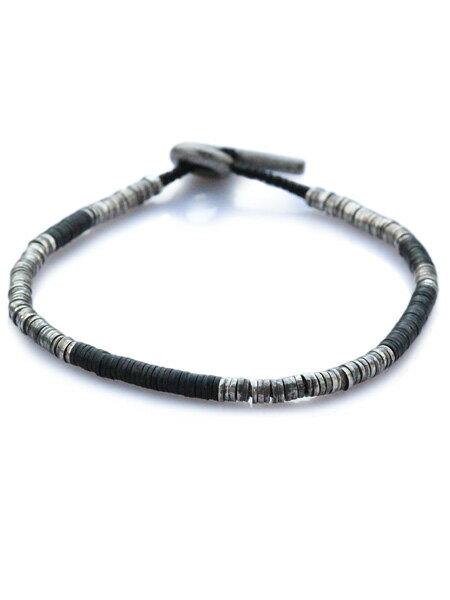 M.Cohen(エム・コーエン)【sterling silver with black beads スターリングシルバー ウィズ ブラックビーズ [B-103732-SLV-BLK]】[正規品](ブレスレット/腕輪/水色/925/プレゼント/ギフト/ユニセックス/メンズ/レディース)【送料無料】