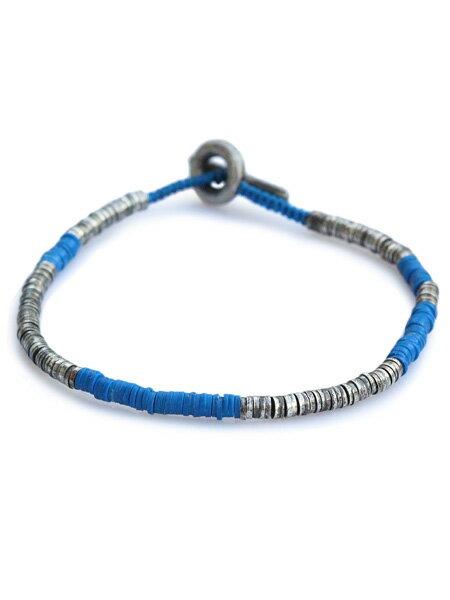M.Cohen(エム・コーエン)【sterling silver with blue beads スターリングシルバー ウィズ ブルービーズ [B-103732-SLV-BLU]】[正規品](ブレスレット/腕輪/水色/925/プレゼント/ギフト/ユニセックス/メンズ/レディース)【送料無料】