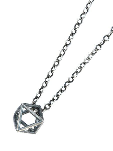 M.Cohen(エム・コーエン)【air geometric necklace エアージオメトリックネックレス [N-103790-SLV-SLV]】[正規品](ペンダント/ロングシルエット/ダイヤモンドカットチェーン/シルバー/銀/925/プレゼント/ギフト/ユニセックス/メンズ/レディース)【送料無料】