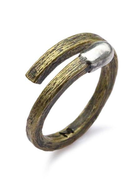 M.Cohen(エム・コーエン)【brass match ring [R-101104-MIX-BRS] マッチリング】[正規品](フリーサイズ調節可能/指輪/アンティークゴールド/スターリングシルバー/Brass/ブラス/銀/真鍮/金/925/ペア/プレゼント/ギフト/ユニセックス/メンズ/レディース)【送料無料】